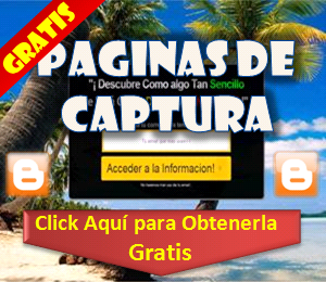 Pagina de Captura Gratis Blogger