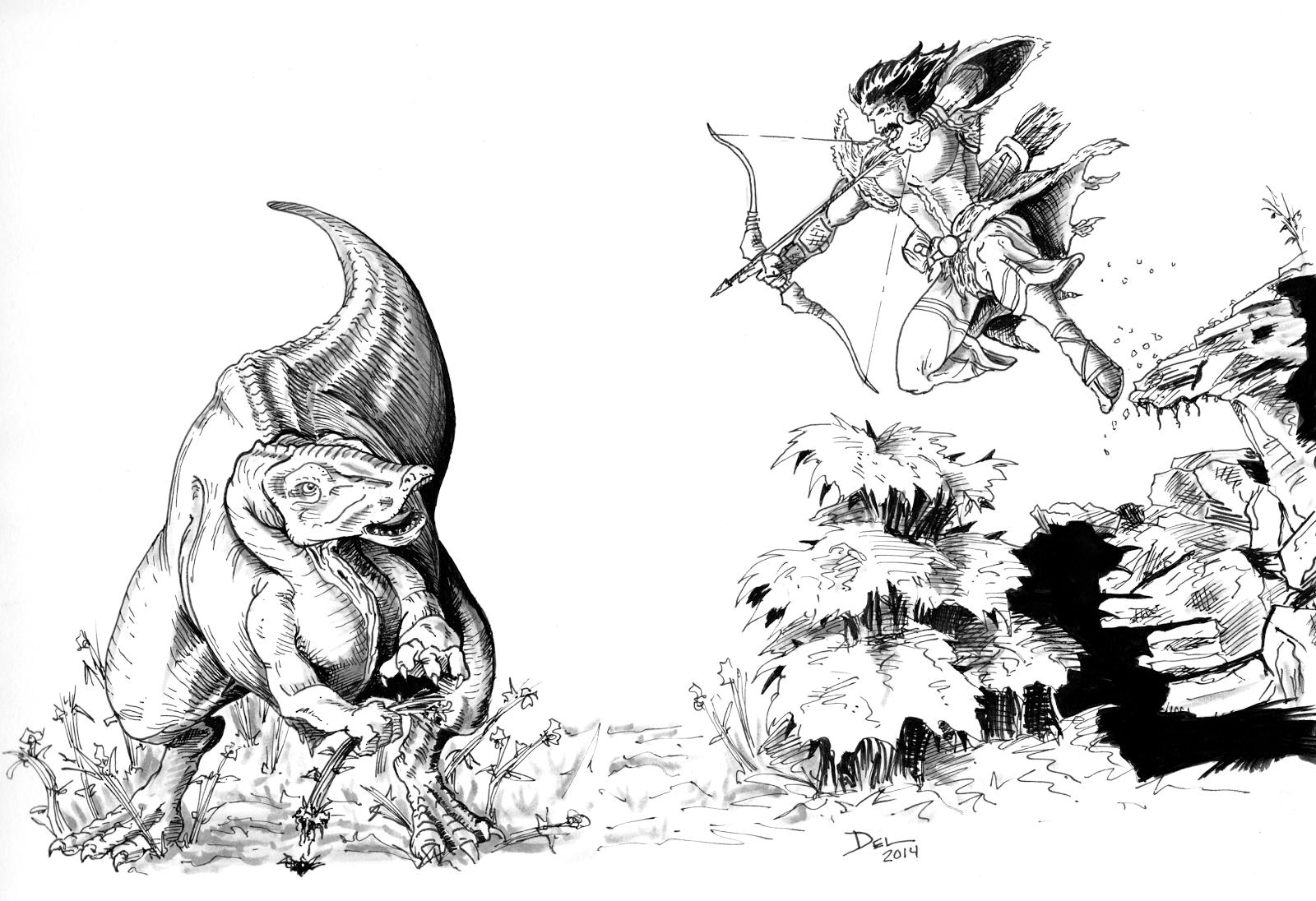 Equijubus Dinosaur by Del Teigeler, Mavfire