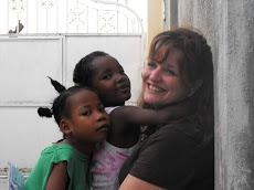 Pastor Carla with Haitian grandbabies.