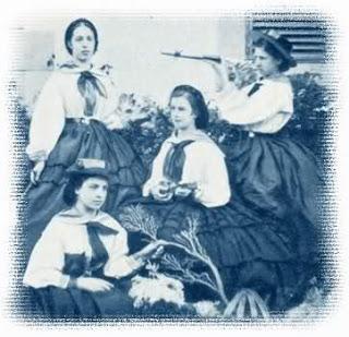 En Madeira junto a sus damas de honor. Allí se había refugiado tras enterarse de que su marido la había contagiado una enfermedad venerea.