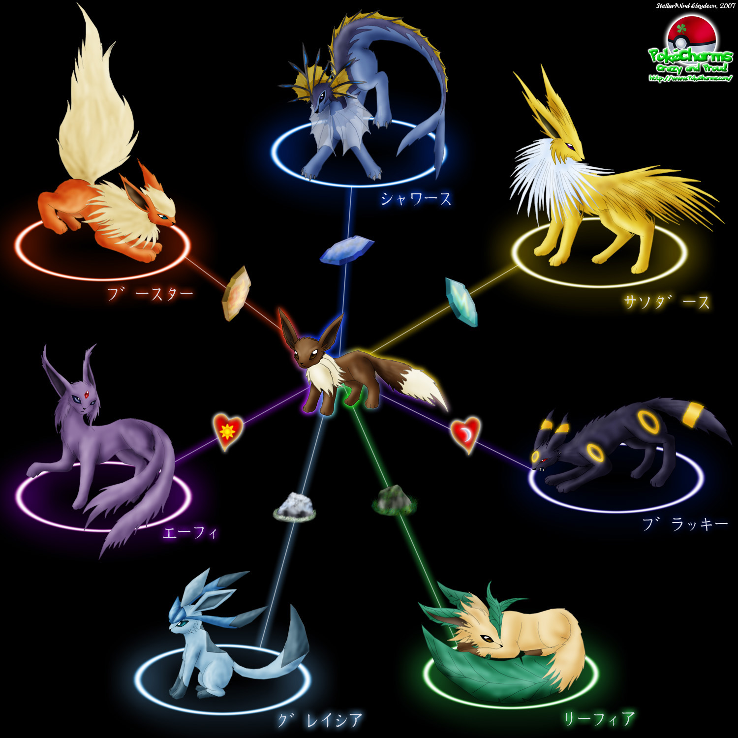My Favorite Pokmon 8 Eevee amp Evolutions