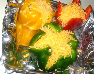 pepper stuffed with tuna and rice