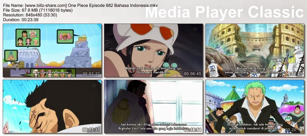 One Piece Episode 682 (Menerobos Barisan Musuh! Luffy dan Zoro Melancarkan Serangan Balik!) Bahasa Indonesia