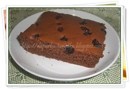 Bolu Pisang, Olahan Pisang, Cake Pisang Coklat Kismis, Cake Tanpa Pengembang Tambahan, Cake Tanpa Margarin Dan Mentega