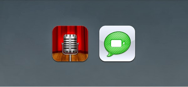 Voice Memos and Facetime Icons