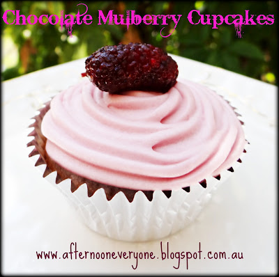 Chocolate Mulberry Cupcakes