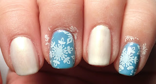 Snowflake Stamped Nails
