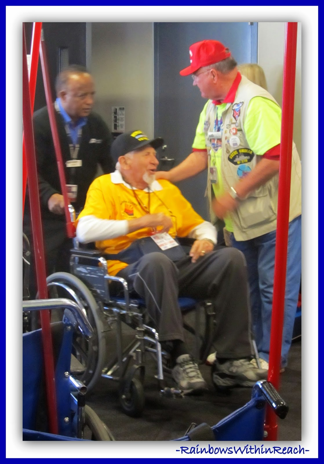Veteran's Day Honor Flight shared at RainbowsWithinReach