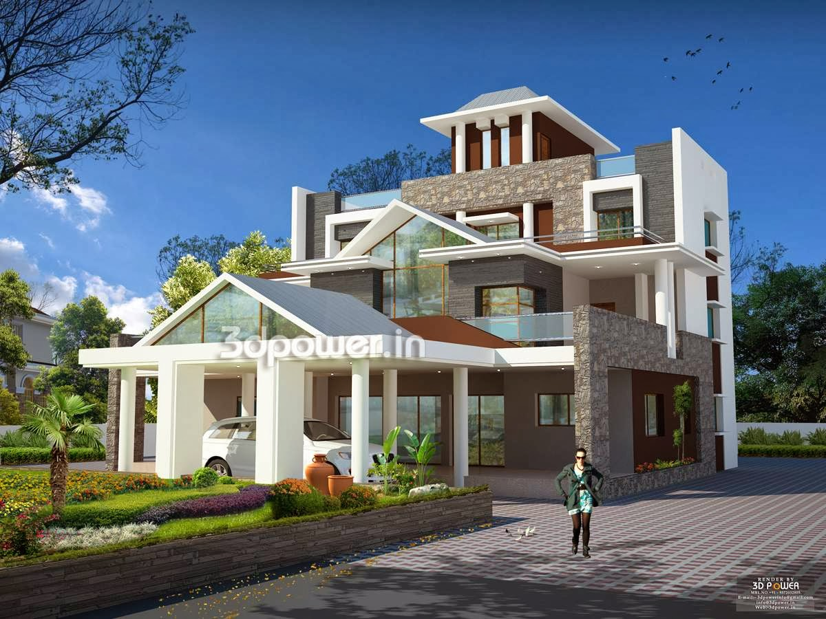 Beautiful House/ Bungalow Plans With Photos In India