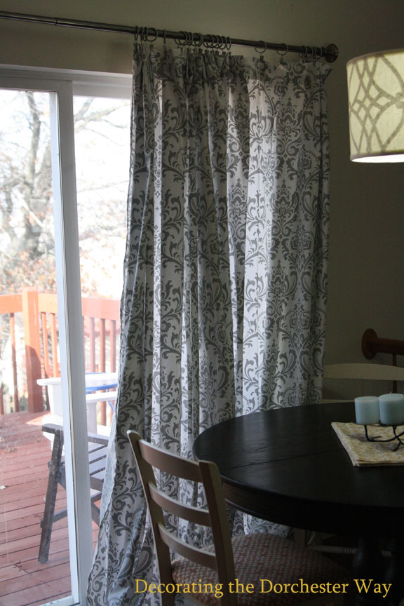 Exceptionnel I Decided I Wanted To Change Up Our Dinning Room Patio Curtains And Could  Not Find What I Wanted So I Sewed My Own! Since It Was For The Patio Door I  ...