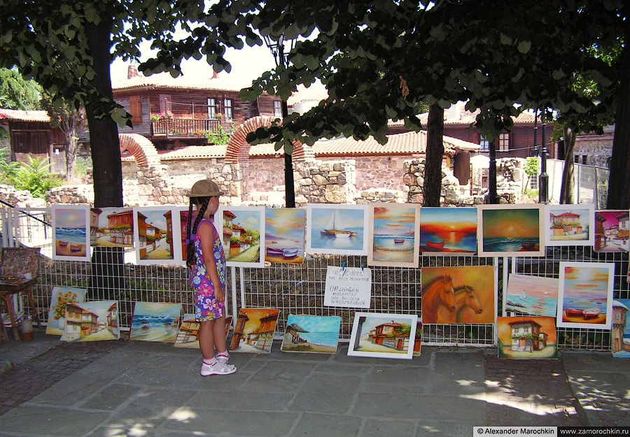 Картины местного художника. Созополь. Болгария | Paintings by a local artist. Sozopol. Bulgaria