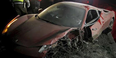 Drunk, Juventus star Arturo Vidal destroys Ferrari 458 Italy
