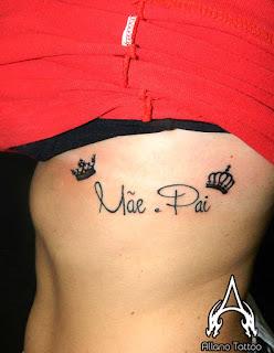 Tatuagem Em Homenagem A Mae E Pai