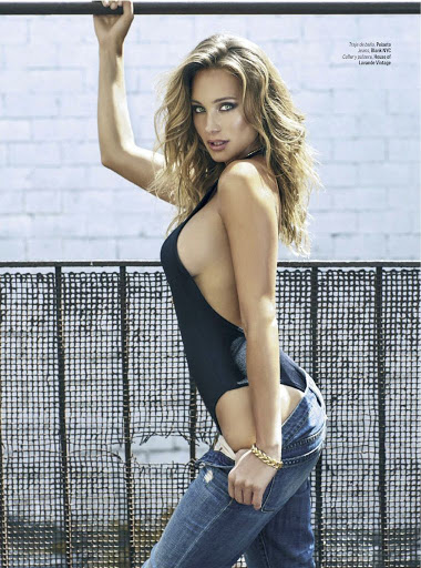 Hannah Davis topless photo shoot GQ Mexico September 2015