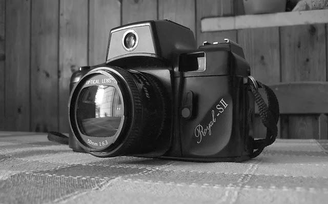 Antigua cámara de fotos.