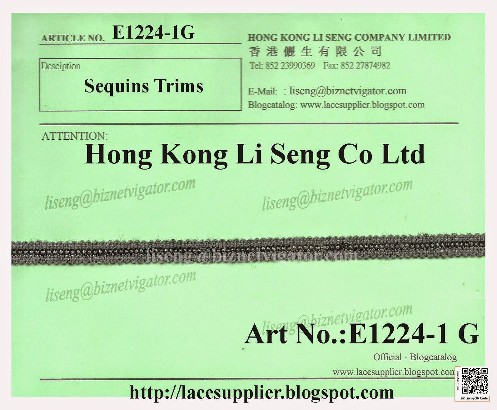 Beads and Trims Manufacturer Wholesale Supplier - Hong Kong Li Seng Co Ltd
