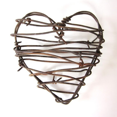 rustic barbed wire heart