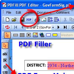 برنامج تحرير ملفات البي دي اف PDFill PDF Editor