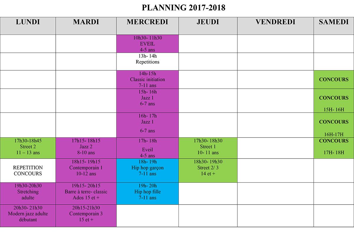 PLANNING 2017 / 2018