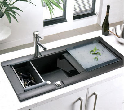 modern stainless steel kitchen sink