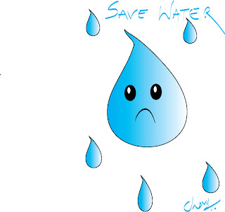 How To Draw Save Water