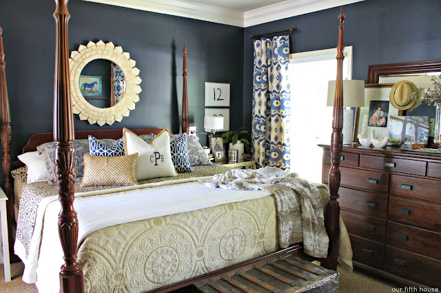 Our Fifth House - Navy Bedroom