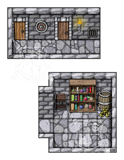 Two rooms from the Goblin's Den