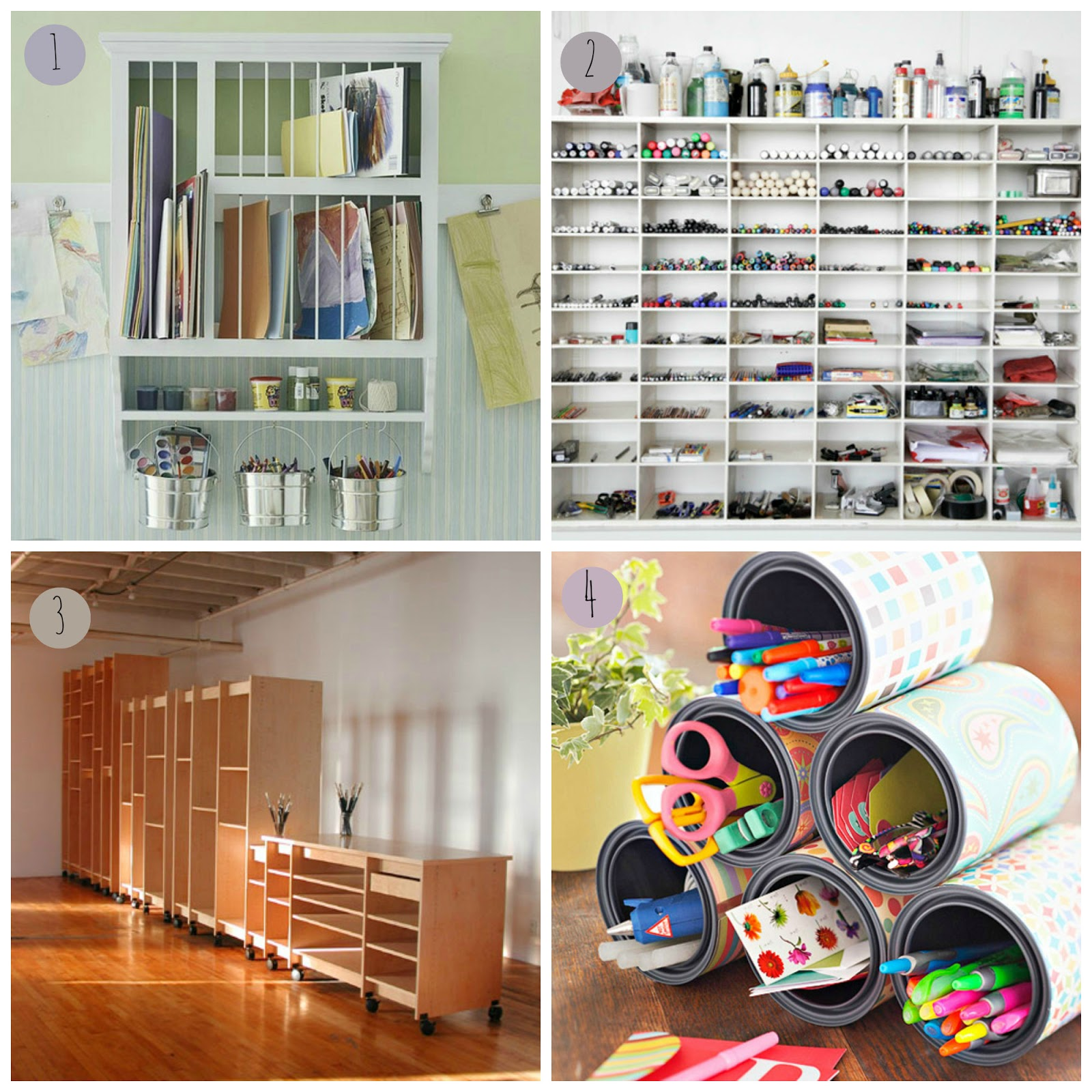 Laura ashton art studio storage ideas for Unusual storage ideas