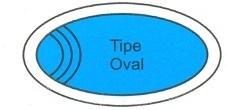 desain kolam renang tipe oval