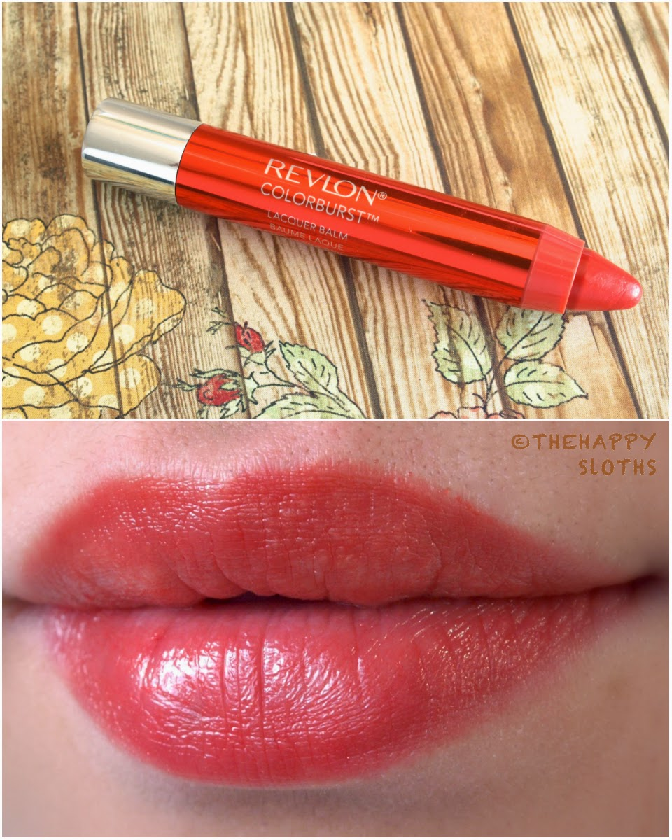 """Revlon ColorBurst Lacquer Balm in """"Tease"""" swatches review"""