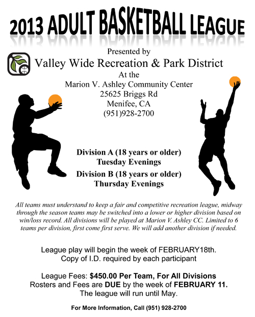 Menifee adult basketball leagues now forming menifee 247 altavistaventures Choice Image