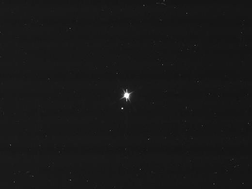 A Terra e Lua são apenas pontos brilhantes no espaço