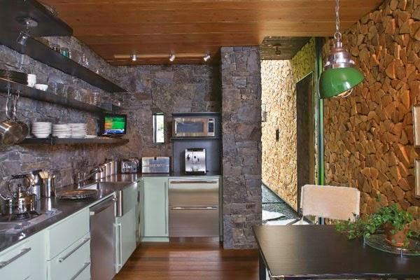 Contoh Dapur Minimalis Dengan Nuansa Batu Alam