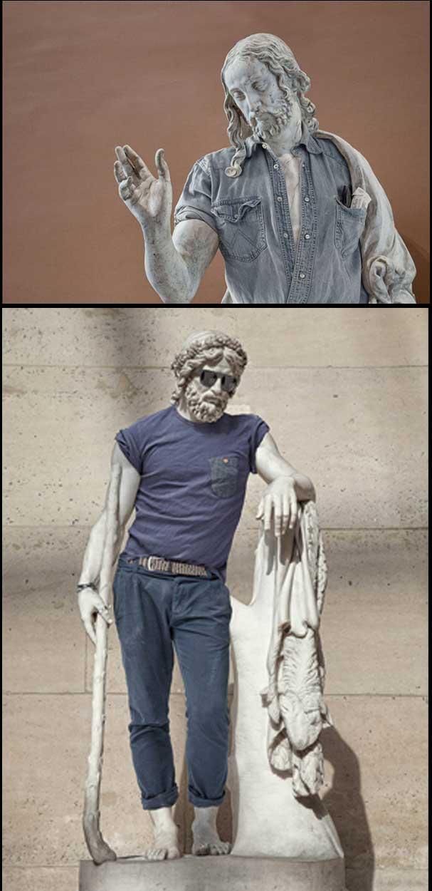 Patung Klasik Mitos Greek Kini Berpakaian Terbaik Siot 8 Gambar
