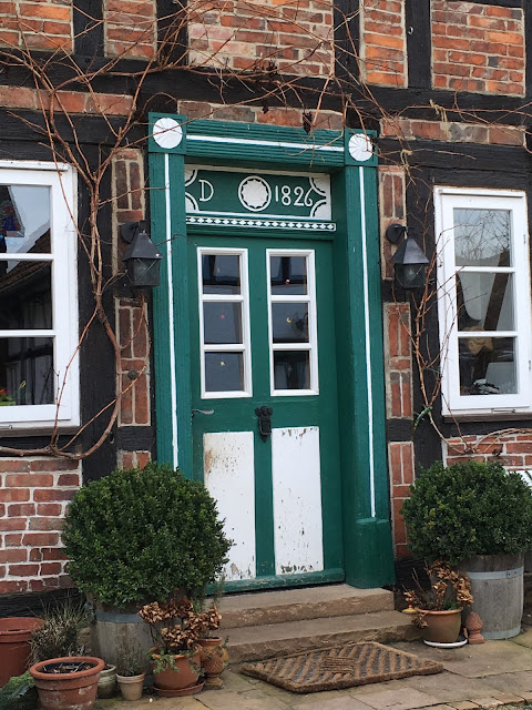vintage German front door
