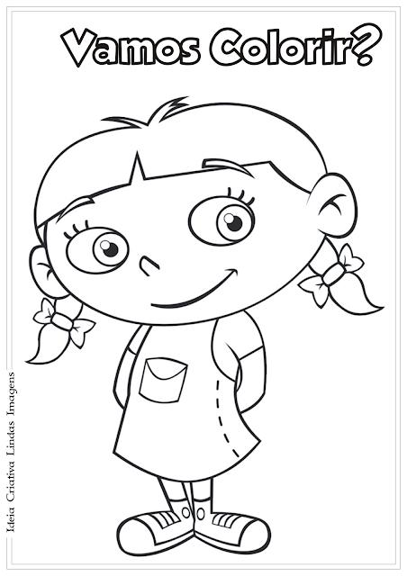 Mini Einsteins Annie desenho para colorir