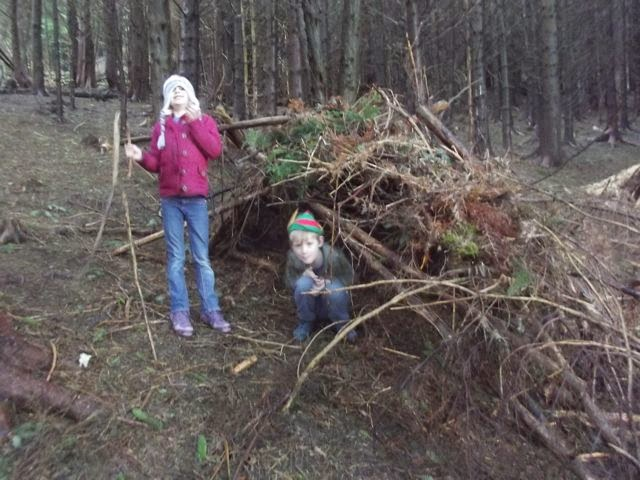 Stick Man trail Whinlatter den building