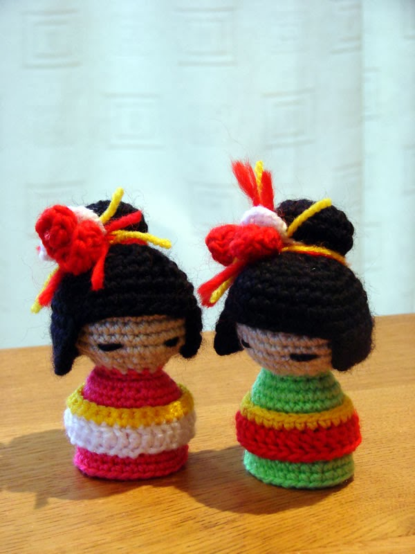 Kokeshi Doll Knitting Pattern : Happy Berry Crochet: How To Crochet a Kokeshi Japanese Doll - Yarn Scrap Friday