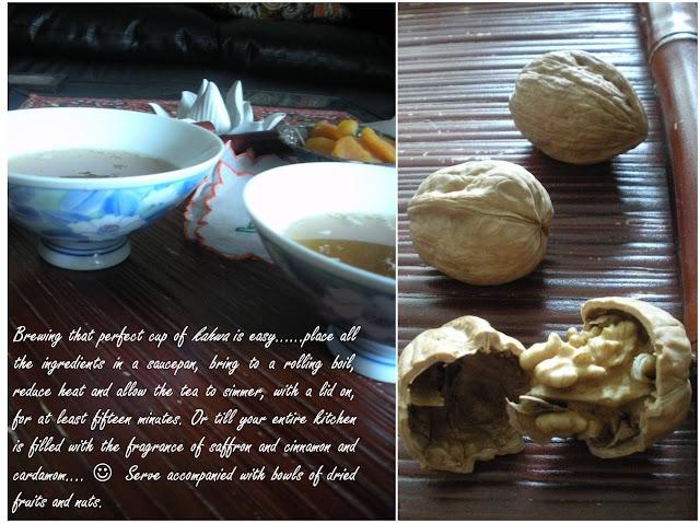 Kahwa recipe, Indian, Green tea