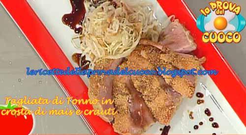 Tagliata di tonno in crosta di mais ricetta da la prova for Cucinare tagliata