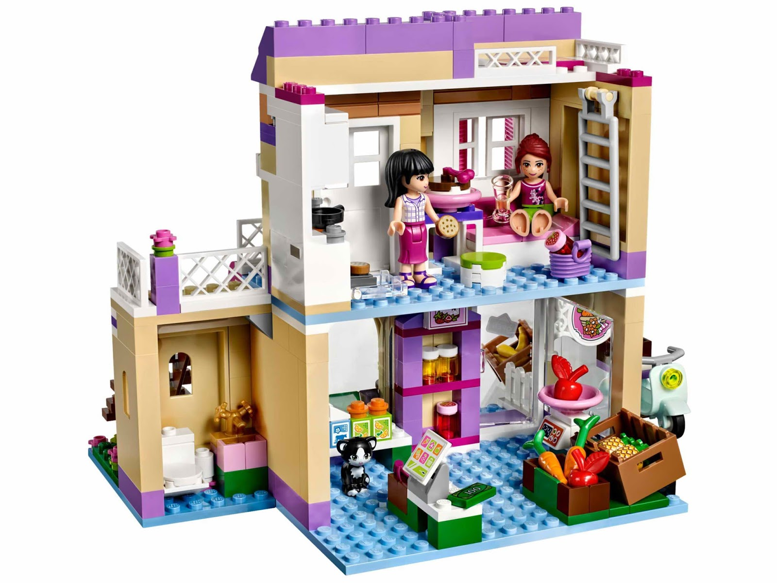 Brick friends lego 41108 heartlake food market for Lego friends salon de coiffure