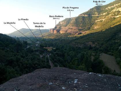 La Vall de Sant Miquel des del mirador natural de La Roca Vermella