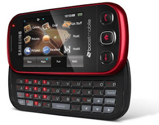 Boost Mobile's Candy Apple Red Samsung Seek exclusively offered by Best Buy