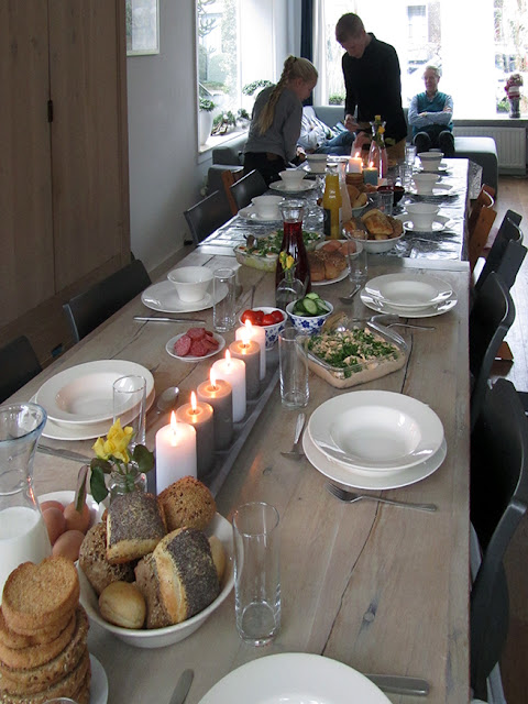 Christmas brunch table