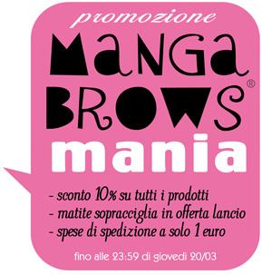 Neve Cosmetics - Promozione Manga Brows Mania