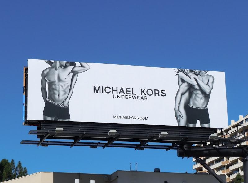 Michael Kors Cory Bond underwear billboard