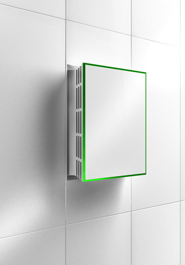 Bathroom Exhaust Fans Wall Mount : Venti invisible wall mounted fan spyful breaking news