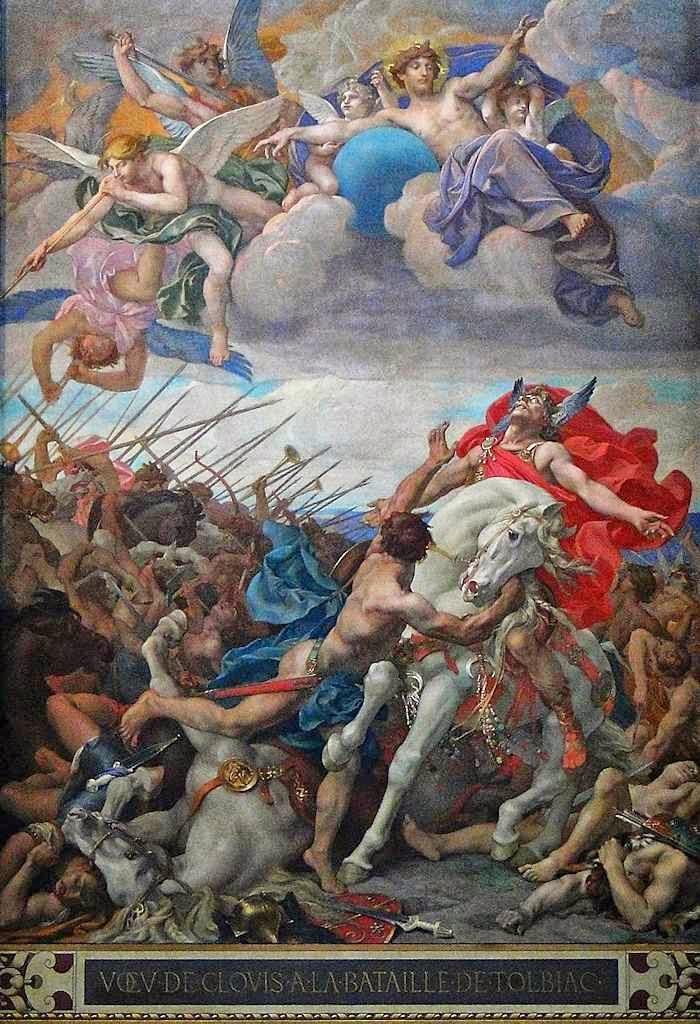Clóvis no desespero invoca o Deus de Santa Clotilde Paul-Joseph Blanc (1846-1904), Panteon, Paris