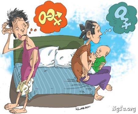 Biếm họa nguyên nhân vợ không cho quan hệ