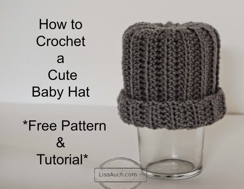 How To Crochet An Easy Baby Hat Free Pattern And Tutorial Ideal For